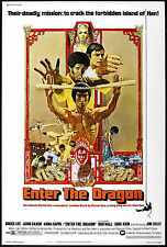 ENTER THE DRAGON Movie Poster Kung-Fu Bruce Lee