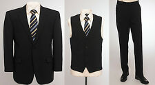 "BNWT Skopes wool blend 3 piece suit in plain Navy blue, chest 54"" to 58"""