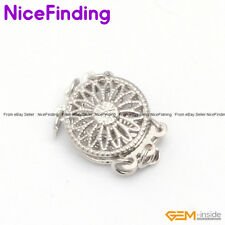 3 Strands white Gold Plated Clasp 12mm Jewelry Making Design Findings GP0271