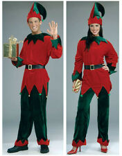 New Deluxe Adult Costume Santa's Helper Xmas Elf Outfit