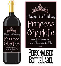 Personalised Bottle Label Birthday Gift Favour Wine, Spirit Or Champagne BDBL 3