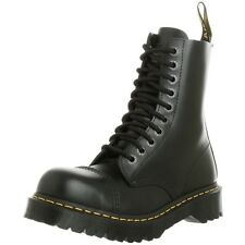 Dr. Martens Men's BXB Black Fine Haircell Leather Work Boots 8761