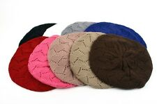 Various Color Winter Knit Beret Crochet Beanie 802HB