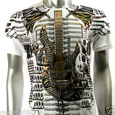 Artful T-Shirt Sz M L XL XXL Tattoo Guitar emo Rock Graffiti bmx Punk Indy AW4