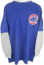 Chicago Cubs MLB Long Sleeve Blue Majestic Shirt Big & Tall Sizes