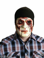 Slaughter Burglar Gory Bloody Scary Mask w/ Cap Costume Halloween Accessory NEW