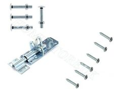 BRENTON BOLT LOCK WITH FITTINGS GALVANISED ZINC PLATED SLIP GARDEN SHED GATE