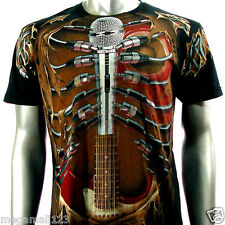 Artful Couture T-Shirt M L XL XXL Rock Guitar Microphone Tattoo mma Punk AB47
