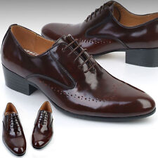 New Designer Mens Leather Italian Style Oxfords Dress Formal Shoes Brown Nova