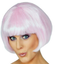 GREASE LICENCED PINK LADIES JACKET+ GLASSES + PINK BOB WIG COSTUME FANCY DRESS