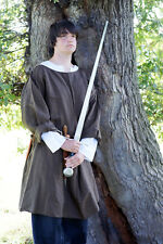 Medieval/SCA/Larp/Re enactment KNIGHT/NOBLEMAN Brown over tunic sml-XXXXL