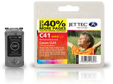 Remanufactured Jettec CL-41 Tri-Colour Ink Cartridge for Canon Printers