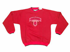 CINCINNATI BEARCATS ADULT RED AND BLACK EMBROIDERED V-NOTCH CREW SWEATSHIRT NWT
