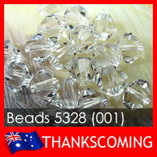 SWAROVSKI 5301 / 5328 BICONE XILION CRYSTAL CLEAR BEADS * All Size * - GENUINE!