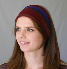 Merino Soft Wool Headbands Earth Colours Hand Dyed Neck Scarf Hair Head Wraps