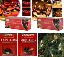 CLEAR / MULTI COLOUR XMAS FAIRY LIGHTS BULBS CHRISTMAS DECORATION TREE PARTY