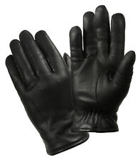 GLOVES LEATHER BLACK POLICE COLD WEATHER INSULATED VARIOUS SIZES ROTHCO 4472