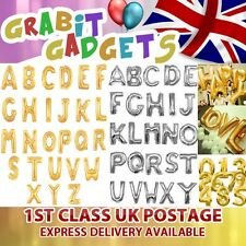 FOIL BALLOONS 40 INCH LARGE LETTER BALLOONS A - Z IN GOLD & SILVER FULL ALPHABET