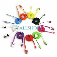 Color Flat Micro USB Data Cable Charging Cord for Galaxy S3 Note N7000 HTC one X