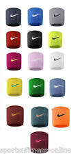 NEW (2 PACK) PAIR NIKE SWOOSH TENNIS,SQUASH,BADMINTON WRIST BANDS SWEAT BANDS