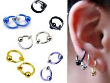 "1 Pair Spring Clip On Hoop,Nose Lip Ear Ring,Earrings,Pick Up 1 Color,½"" or 13MM"