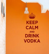 Keep Calm and Drink Vodka - funny Wall Stickers & Wall Decal. 32 colours. New