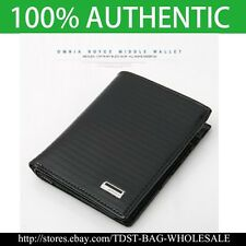 [OMNIA] Crystal MEN'S GENUINE LEATHER WALLET/ ID Card Purse MW643M Bifold Wallet