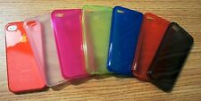 iPhone Lanyard with TPU Frost Clear Rubber Skin Case Cover for iPhone4 4s Combo