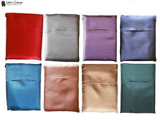 Silk Sleeping Bag Liner LARGE Single Travel Sheet 8 Colour Quality Traditional