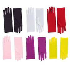 "Short 10"" Theatrical Formal Pastel Gloves Adult Costume Accessory NEW"