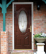 Composite Front Door - 'Eminence' with Andaman Glass - Not flat Pack! NEW #001