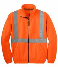 Cornerstone Mens Size XS-L 4XL FLEECE Safety Jacket Reflective Taping HIGH VIS