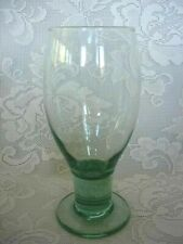 Beautiful Vintage LIBBEY'S Lt. Green Blown Glass Water Goblet - MORE AVAILABLE