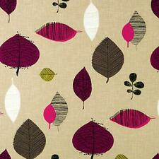 COTTON SLUB WEAVE FOR UPHOLSTERY CURTAIN FABRIC VINTAGE LEAF BEIGE GREEN 44'WIDE