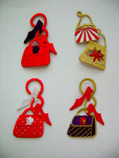RED HAT LADY PURSE w SHOE CHOOSE YOUR FASHION EMBROIDERED IRON ON APPLIQUE PATCH