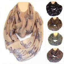 Huge XL Zebra Circle Loop Infinity Scarf Snood New Extra Slouchy On Trend Design