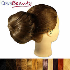 Clip in Hair Bun - Big Round Doughnut Style Hairpiece - All Colours