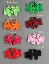 Butterfly Beaded Frog Fasteners Button Knots Available 8 Colours  # S18