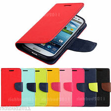 MERCURY FANCY FLIP CASE LEATHER WALLET COVER FOR SAMSUNG GALAXY S III 3 S3 I9300