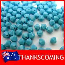 Turquoise (267) Genuine SWAROVSKI 5328 Crystal Beads Bicone 4mm * 50 / 100 /200*