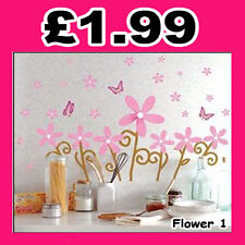 Flower 1 Vinyl Mural Wall paper stickers Art Decal