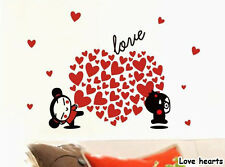 Love hearts cute Vinyl Mural Wall paper stickers Art Decal