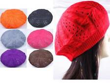 1 PIECE WOMEN BEANIE CROCHET BERET CAP HAT SELECT ONE FROM 11 COLORS