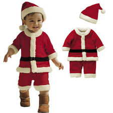 Baby boys  SANTA CLAUSE costume boys party outfit christmas Outfit Set 1-4 yrs