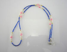 (S2)Stainless steel string cord with beads for Reading Glasses