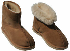 New Genuine Sheepskin Short/Mini Ugg Boots Chestnut/Beige Mens Womens Unisex