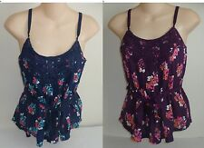Womens AEROPOSTALE Belted Floral Crochet Cami Top NWT #5909