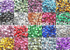 1000 5mm Acrylic Round Crystal Rhinestones Flat Back 20 Color SS20 N70