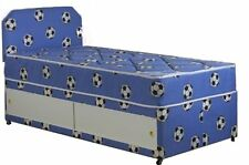 3FT boys single divan bed with mattress and headboard football bed childrens bed
