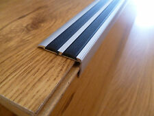 SELF ADHESIVE ALUMINIUM ANTI NON SLIP STAIR EDGE NOSING -TRIM- 40 x 20mm